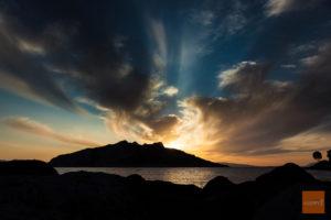 zachód słońca nad Aeginą