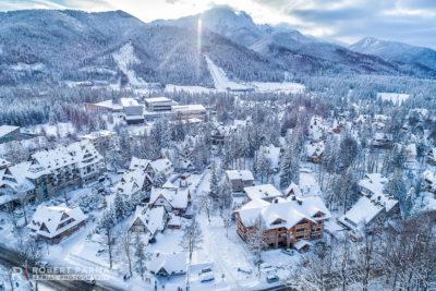 zdjęcia z drona zima